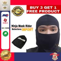 Masker Full face Motor Premium Balaclava Ninja Hitam Polos Terlaris