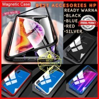 OPPO F9 F9 PRO LUXURY MAGNETIC CASE TEMPERED GLASS BACK
