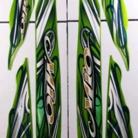 emblem stiker sticker striping yamaha mio sporty cw 2010 hijau