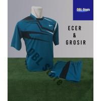 Baju Futsal Kaos Futsal Setelan Futsal jersey Nike Line Toska Hitam