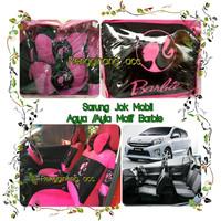 Sarung Jok Mobil Agya Ayla Barbie Pink Kombinasi Hitam