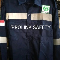 Terlaris Baju Seragam Safety Biru Dongker Scotlight Fosfor Wearpack