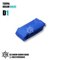 KOLAM BIOFLOK DIAMETER 1 METER TINGGI NORMAL (TERPAL SAJA)