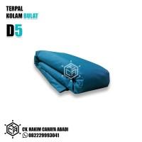 KOLAM BIOFLOK DIAMETER 5 METER TINGGI NORMAL (TERPAL SAJA)