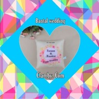 bantal custom nama hadiah pernikahan kado pernikahan hadiah wedding