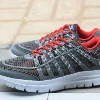 Sepatu sport nike airmax 3D skin abu merah / Nike casual pria wanita /