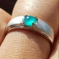 cincin batu akik natural bacan doko kristal perhiasan pria murah