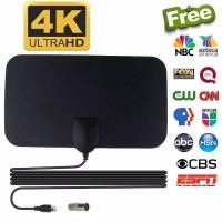 ANTENA TV DIGITAL INDOOR DVB-T2 4K HIGH GAIN 25DB PENANGKAP SIGNAL