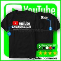 Kaos Youtube Keren - Custom Nama Channel - Tshirt Baju Distro