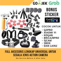 Paket Aksesoris Action Camera GoPro Xiaomi Yi Full Set Super Lengkap