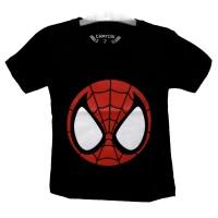 kaos anak superhero baju anak super hero spiderman (glow in the dark)