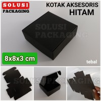 KOTAK HITAM 8x8 TEBAL/TEMPAT SOUVENIR/PILLOW BOX/BUNGKUS KADO/KARDUS