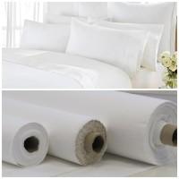 bahan kain sprei bantal guling putih polos meteran | microtex | katun