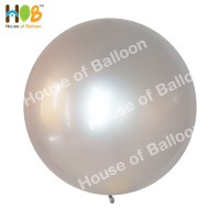 Balon Jumbo Latex Lateks 24 Inch Metalik Import Tebal