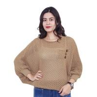 Sweater Crop Baju Rajut Sweater Rajut Wanita Rajutan kardigan MZ0HX
