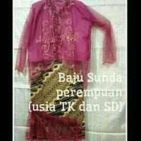 Hot Produk Baju Adat Sunda Perempuan Tk - Sd - 3-4 Tahun