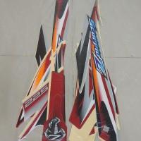 Original Stiker Bodi & Lis Body & Striping Scorpio Z 2008 Silver Merah