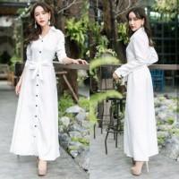 Baju Atasan Wanita Maxi Dress Baju Muslim Gamis Gamis White Ta7.1450