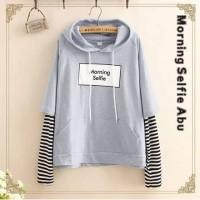 Morning selfie babyterry sweater bebyterry cewek baju