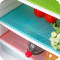 KCASA 4pcs Refrigerator Pad Antibacterial Antifouling