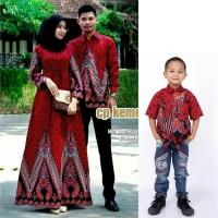 Couple Batik Set Anak Cowok Baju Batik Couple Keluarga Sarimbit Pesta