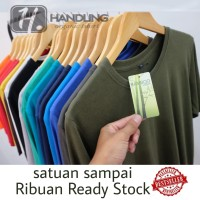 kaos baju polos satuan ribuan cotton bamboo katun bambu - V-neck, S