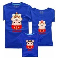 Baju Tshirt Kaos Keluarga Family Couple Imlek Murah Request Nama 2020