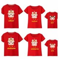 Baju Tshirt Kaos Keluarga Family Couple Imlek Request Nama 2020 Rat