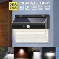 Woopower Lampu Outdoor Solar Panel Sensor Gerak 206 LED 1 PCS
