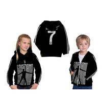 Jaket sweater Anak CR 7 JUVE Custom Fullprint