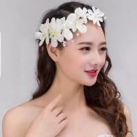 Bandana Bunga Hiasan Rambut Pesta Aksesoris Sanggul Pengantin B19