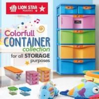 Primera Container SM4 PM-8 Lion Star Lemari Plastik Medium Susun 4