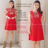 dress dewasa mongolia dress / chinese girl / qipao dress / cheongsam