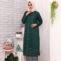 Atasan Kebaya Baju Tunik Brukat Jumbo Busui Brokat Tulang Muslimah