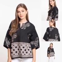 Baju Blouse Atasan Batik Wanita Modern Nona Rara, Leka Ayam T0280