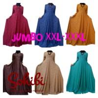 Baju Gamis Wanita Dress Emboss Xxl Jersey Jumbo L Embos L Muslimah