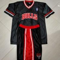 Baju Celana Basket Berlengan Setelan Anak/ Dewasa