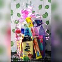 PAKET Plastik + Pita Serut Parcel Kue Kering Kuker Goodie Bag Ultah
