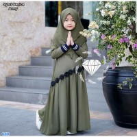 Genice syari kids / Baju Muslim Anak Perempuan / Gamis Anak Terbaru