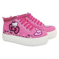 sepatu hello kitty semi boot pink anak perempuan CJ3 sepatu lucu anak