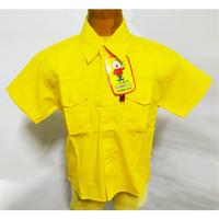 599-604* 4-8 tahun Kemeja baju atasan hem pendek polos anak cowo - 4-5 tahun, Kuning