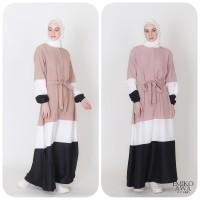 Baju Gamis Belanie - Emikoawa Dress Muslim Wanita Maxy BUSUI Jepang