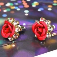 Anting Bunga Mawar Anting Tusuk Bunga Mawar Rose Earstud