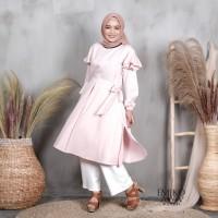 Baju Tunik Terbaru Dutch - Emikoawa Baju Atasan Wanita Blouse Premium - SOFT PINK