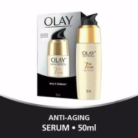 OLAY Total Effect 7 in 1 Anti aging serum warna botol CREAM hitam