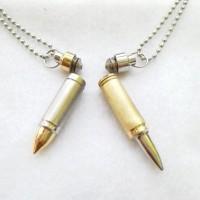 Kalung Rantai Liontin Bandul Botol Tabung Peluru / Bullet Logam