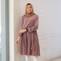Baju Tunik Wanita Rempel Terbaru / Atasan Wanita Tunik Ines Anggur