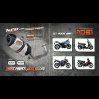 KNALPOT NOBI/NOB1 NEO SS MOTOR HONDA SONIC 150 R FI /SUPRA GTR 150