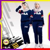 LM 03456 Baju Setelan Wanita Fila Termurah, Terkini, Terlaris ( XL )