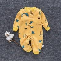 jumper Bayi Kartun hewan dicetak bodysuit Baju bayi Unisex v01 - Biru, 66 0-6Bulan